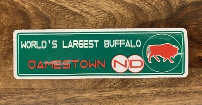 World's Largest Buffalo Sticker