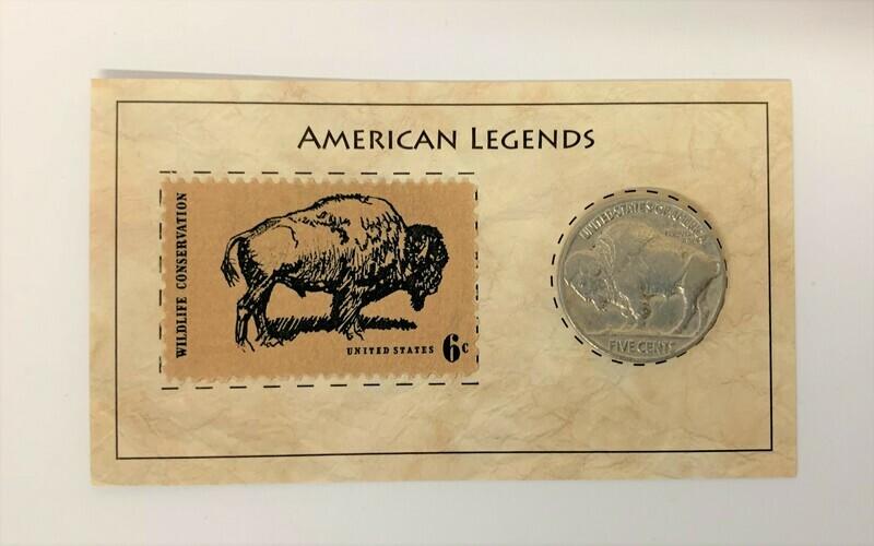 Buffalo Nickel & Stamp Set