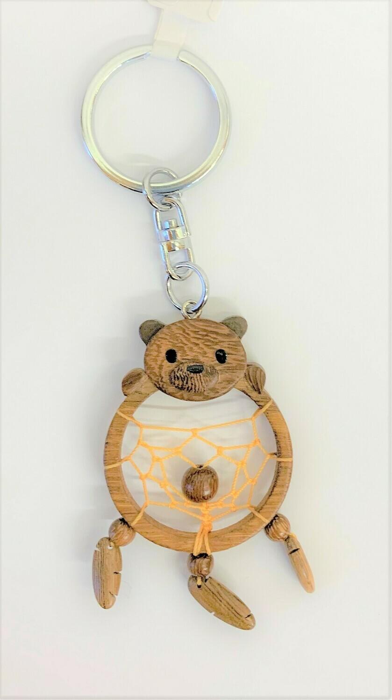 Bear Dreamcatcher Keychain