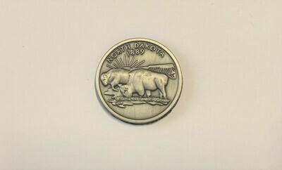 North Dakota Pewter Quarter Magnet