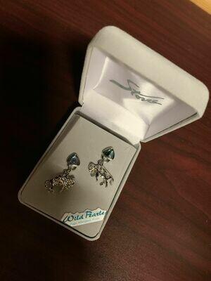Pearl Bison Dangle Earrings