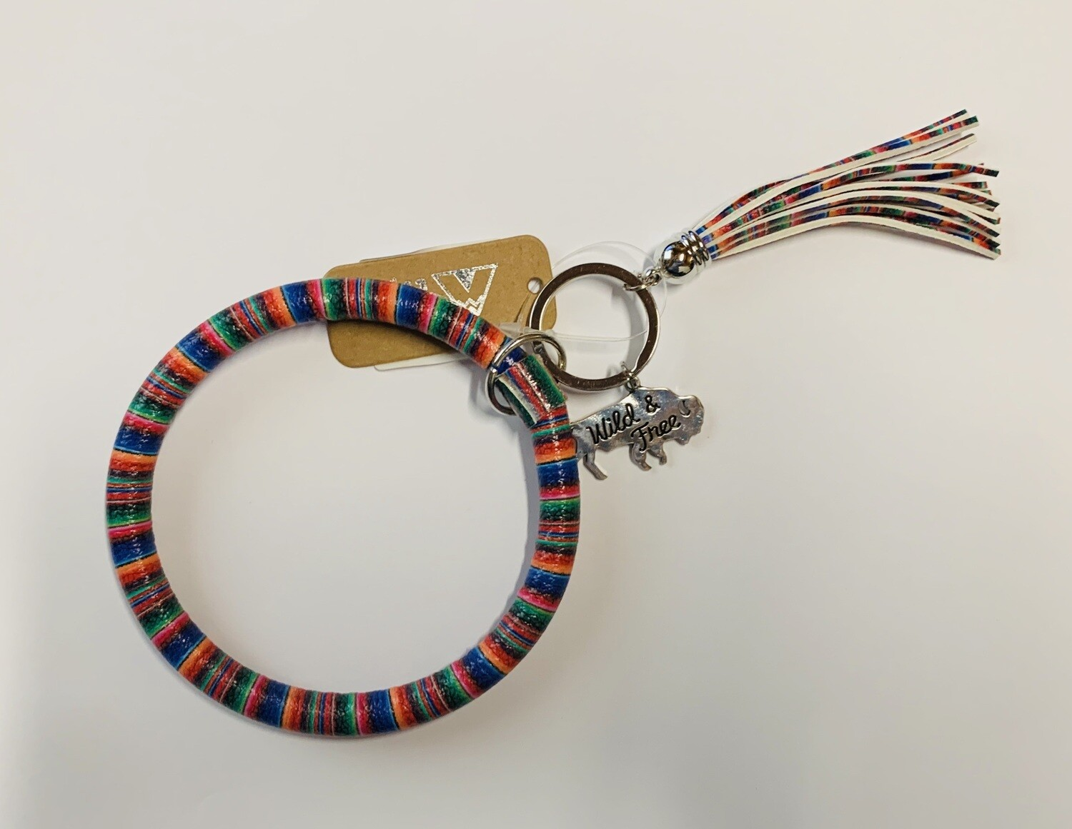 Serape Buffalo Bangle Keychain