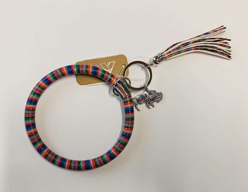 Serape Buffalo Bangle Keychain