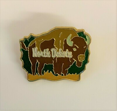North Dakota Bison Pin