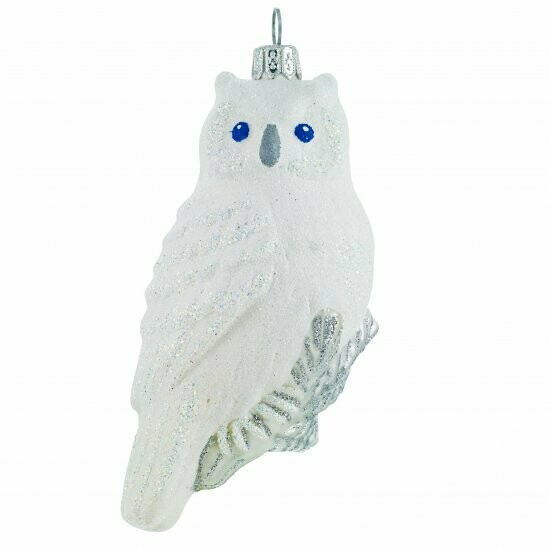 Glittered White Owl