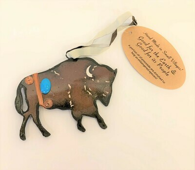 Rustic Buffalo Ornament