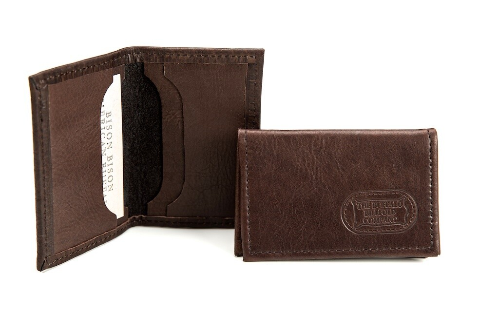 Brown Leather Four Pocket Card Holder