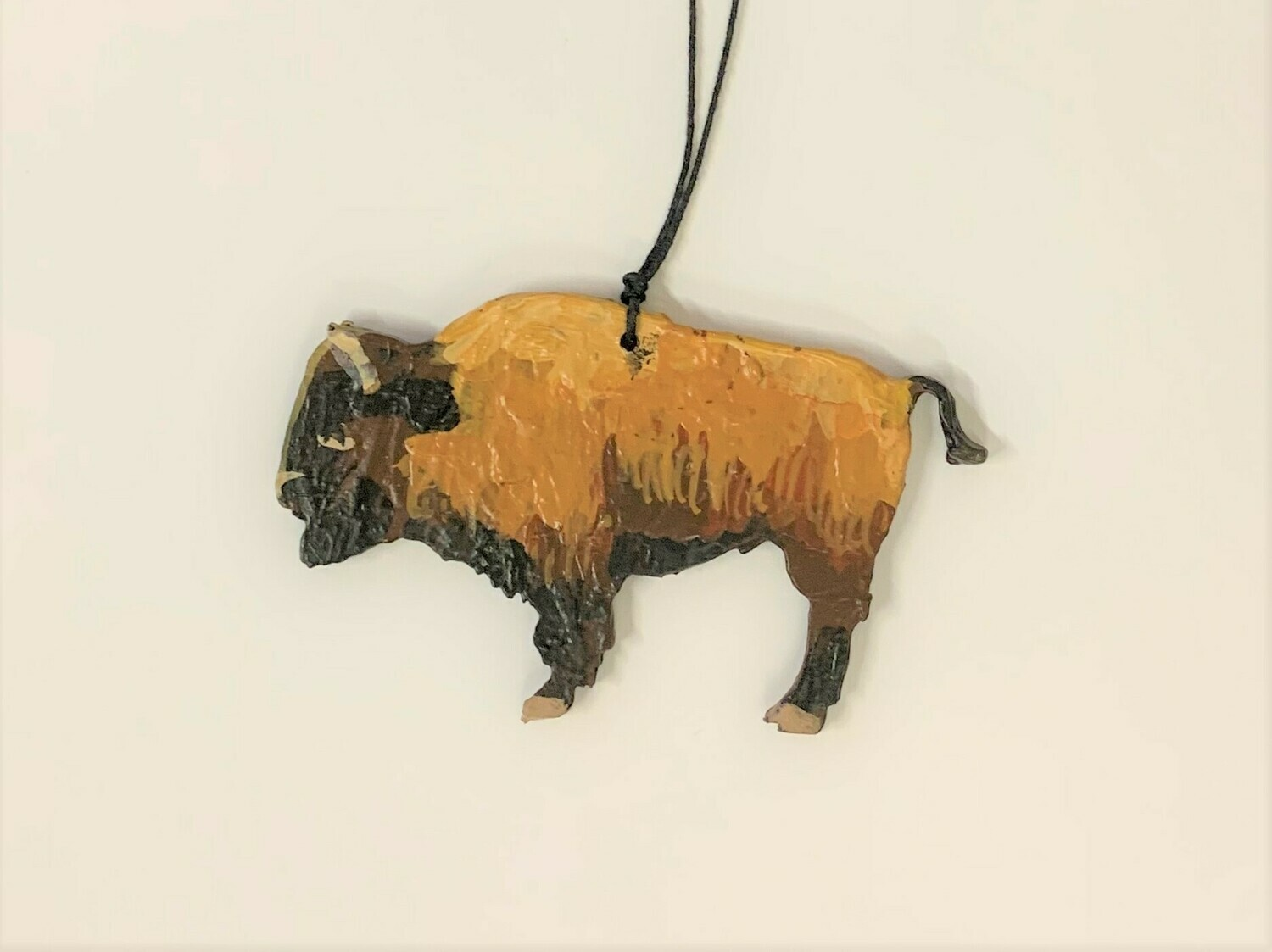 Wooden Buffalo Ornament