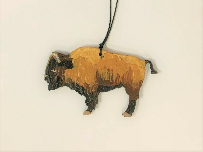 Wooden Buffalo Ornament