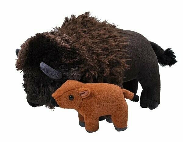 Plush Mom & Baby Bison