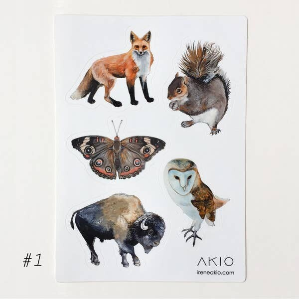 Wildlife Sticker Sheet