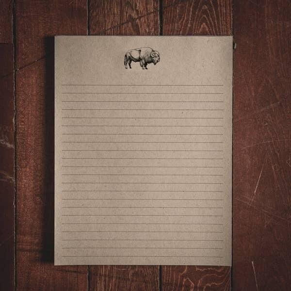Large Bison Notepad