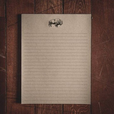 Large Bison Notepad
