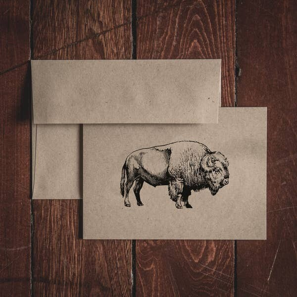 Bison Notecard