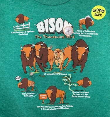 Wildthings Snap-Ons Bison T-Shirt