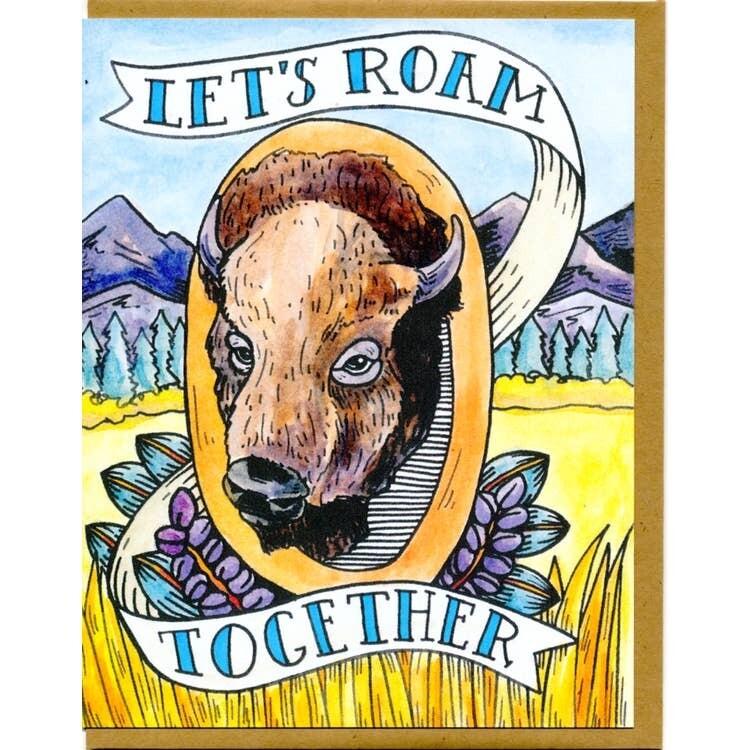 Let's Roam Together Card