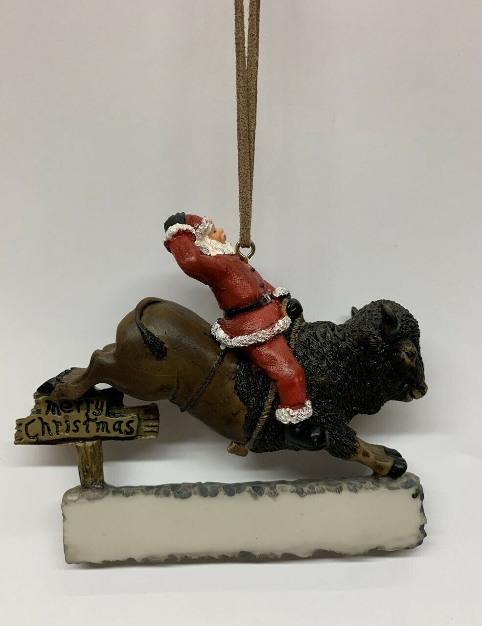 Buffalo Santa Merry Christmas Ornament