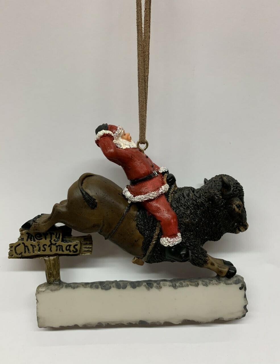 Buffalo Santa Merry Christmas Ornament