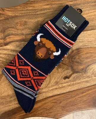 Men's Navy Hot Sox