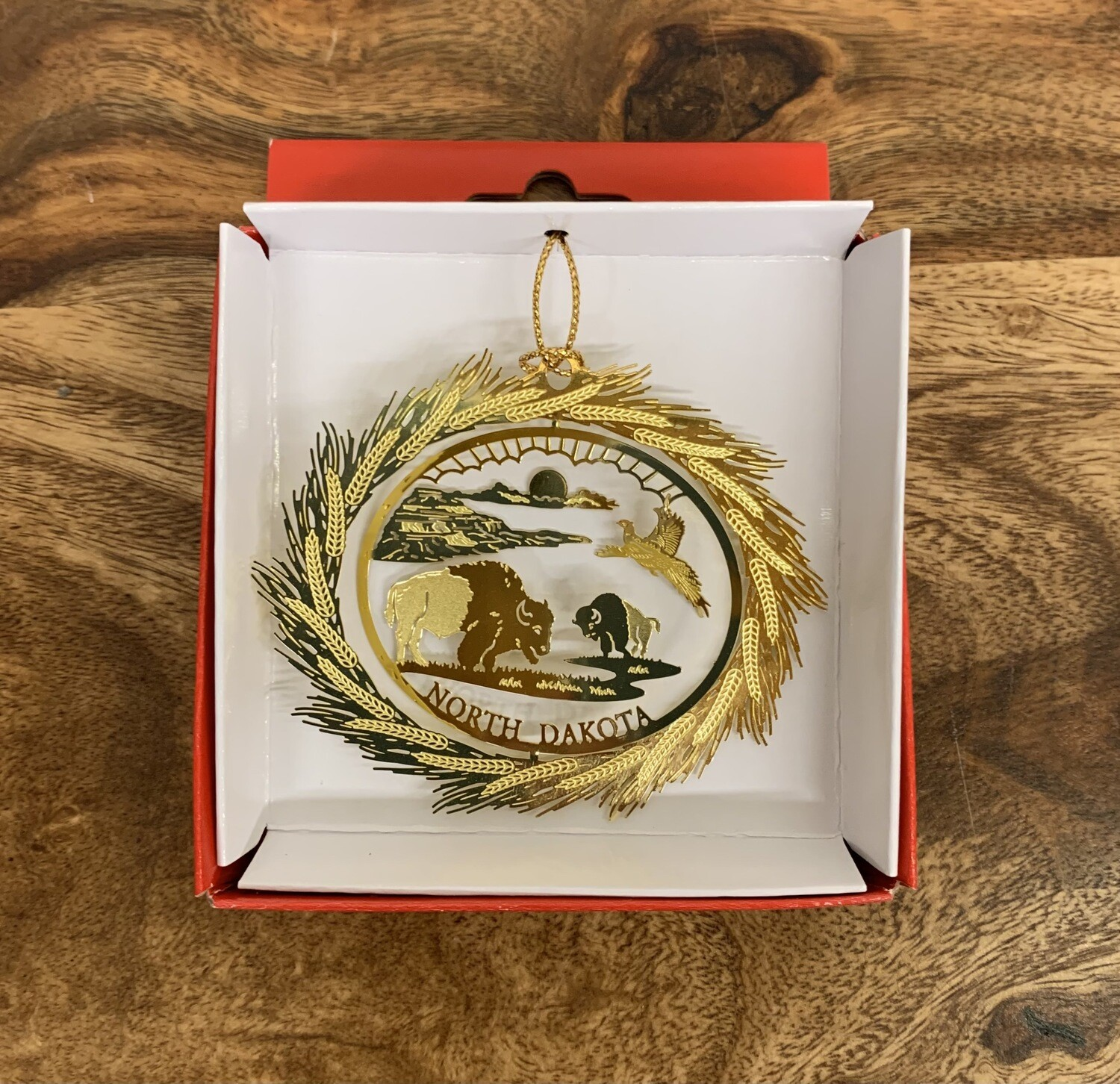 22K Sunshine Buffalo Ornament