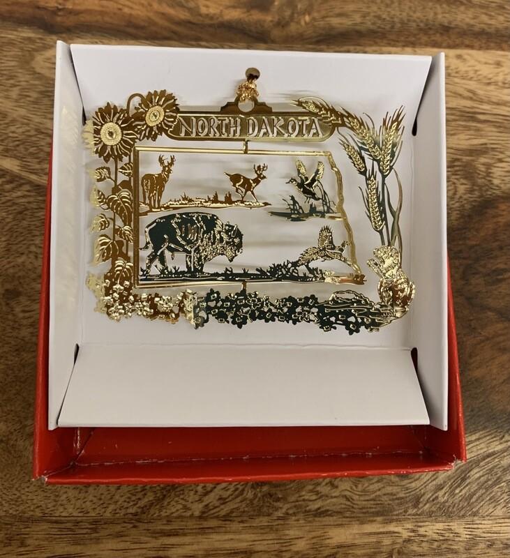 Map & Wildlife Ornament