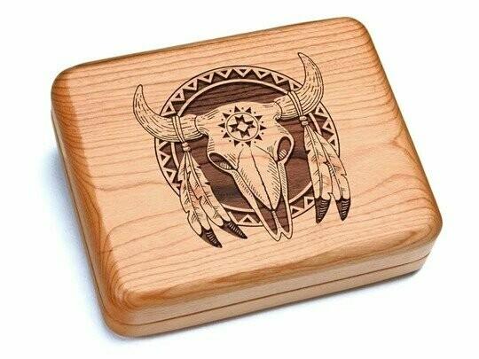 Pocket Knife in Bison Skull Box