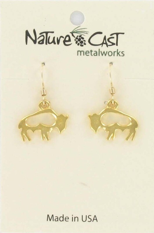 Gold Petro Bison Earrings