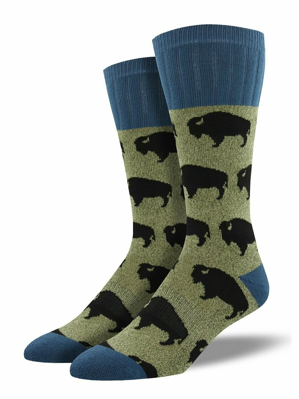 Green Bison Men's Socks