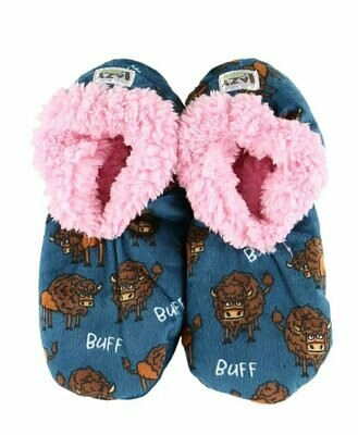 Buff Buffalo Fuzzy Feet Slippers
