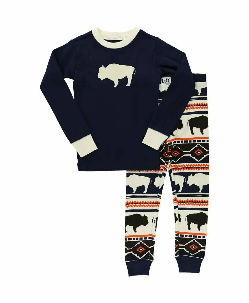 Kid's Buffalo Fair Isle Long Sleeve PJ's