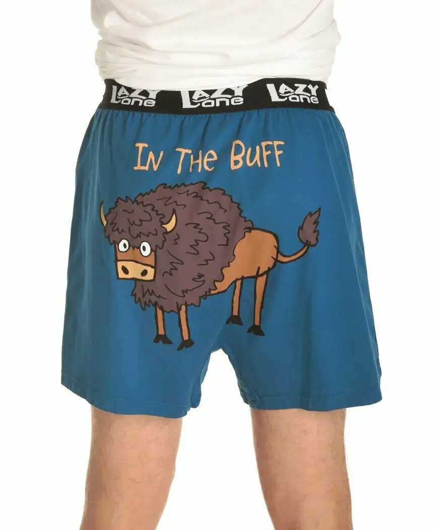 In the Buff Buffalo Adult Boxers