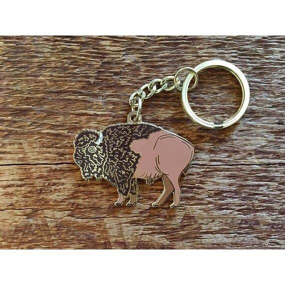 Noteworthy Bison Keychain