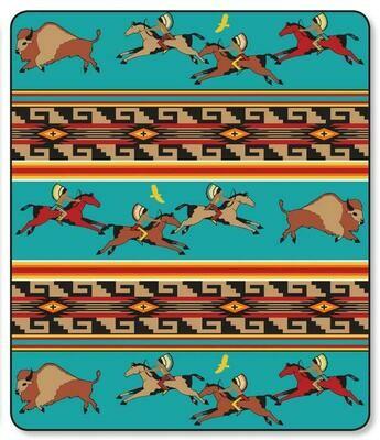 Blue Buffalo Hunt Plush Blanket