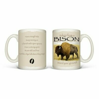 Advise From A Bison Mug