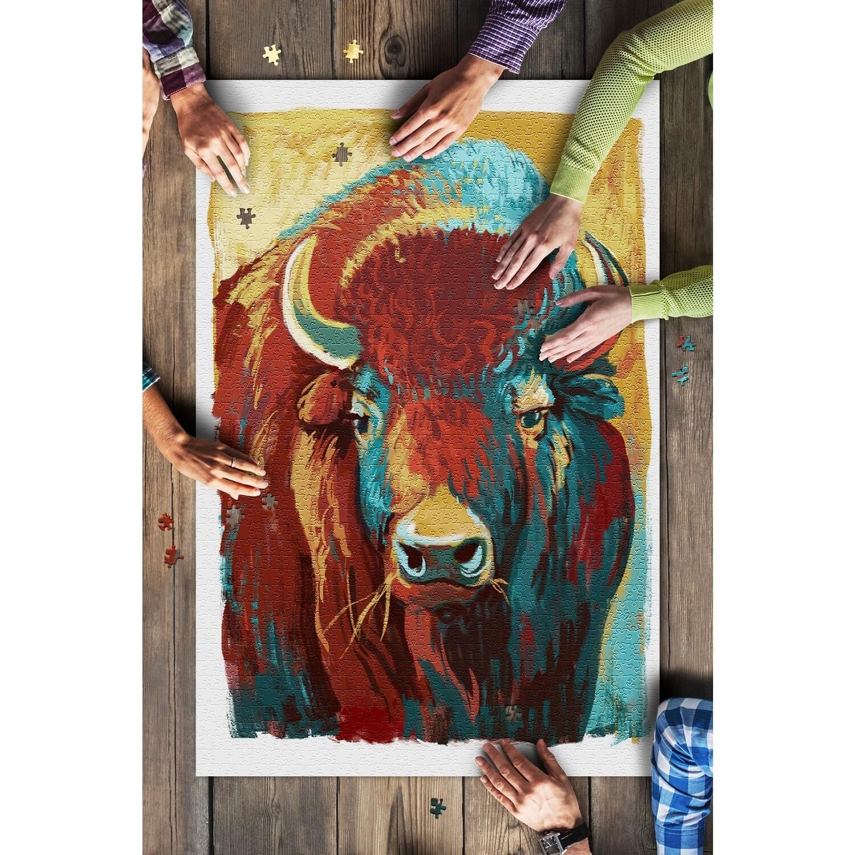 Vivid Bison 1000 Piece Puzzle