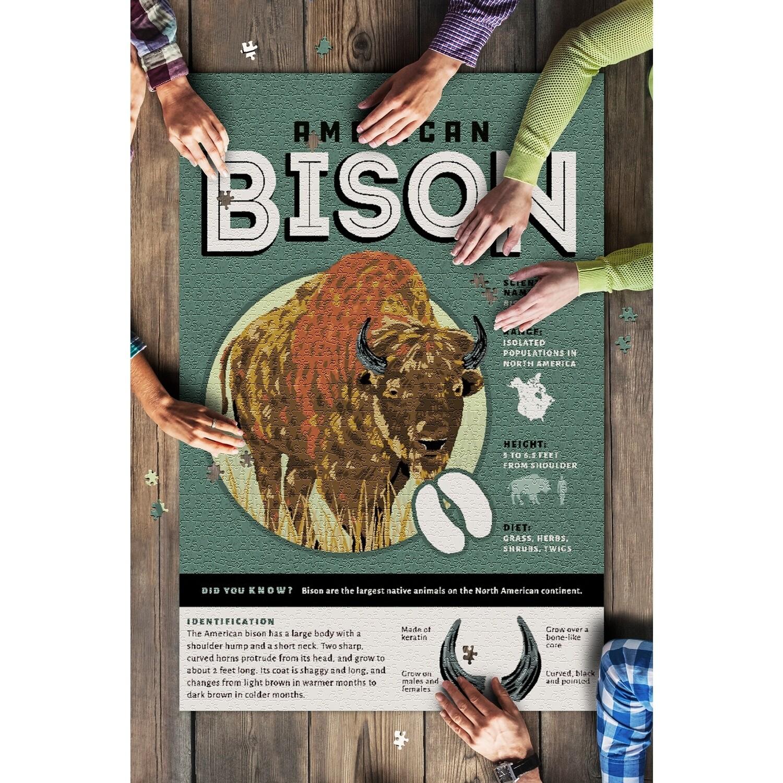 Facts About Bison 1000 Piece Puzzle