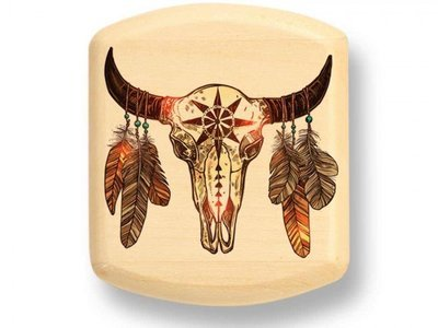 Bison Skull Color Art Secret Box