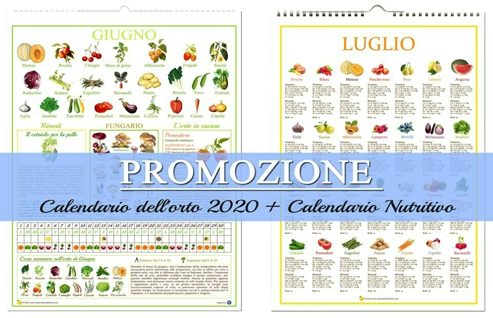 Il Nuovo Calendario dell'Orto 2020 + Il Nuovo Calendario Nutritivo