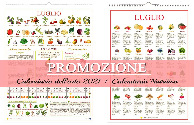 Il Nuovo Calendario dell'Orto 2021 + Il Nuovo Calendario Nutritivo