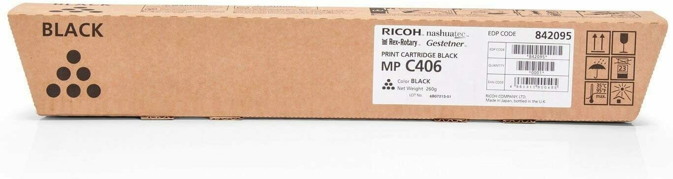 TÓNER NEGRO RICOH MP C406 (17.000 impr.)