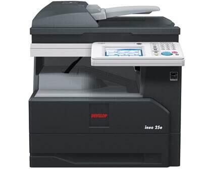 Alquiler fotocopiadora multifunción A4 BN Ineo 25e