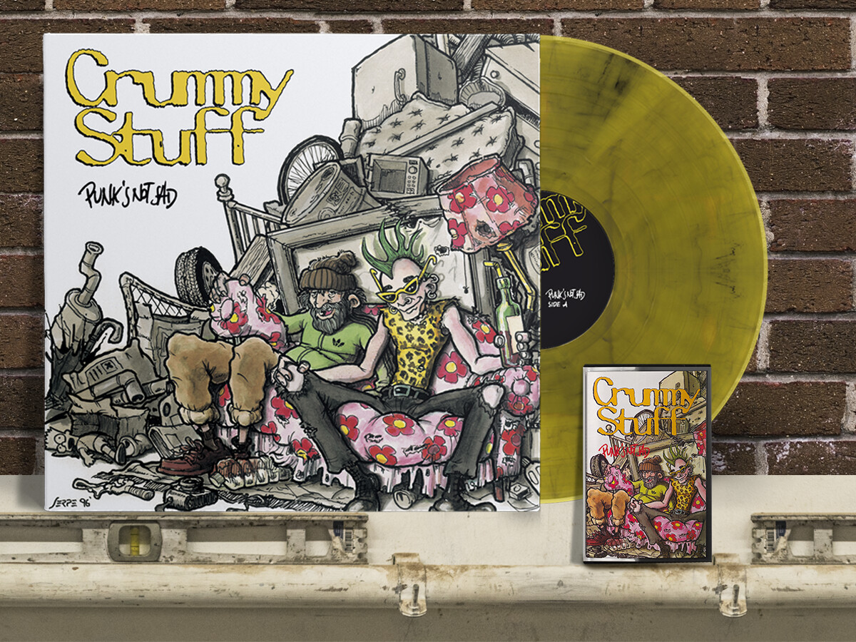 "Punk's Not Sad - LP 12"" Yellow Transparent Vinyl + MC"