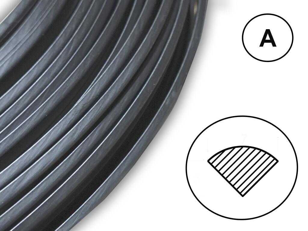 Сварочный пруток черный PC/PBTP (Xenoy) профиль А
