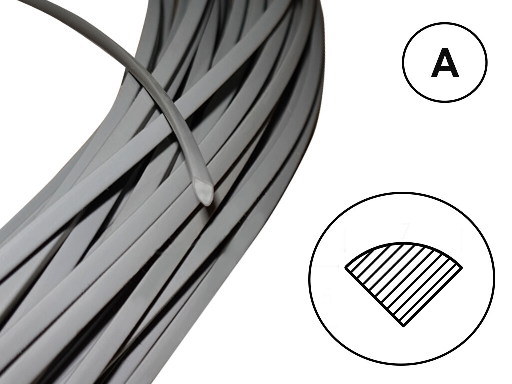 Сварочный пруток ПВХ-Н (твердый) профиль А /серый