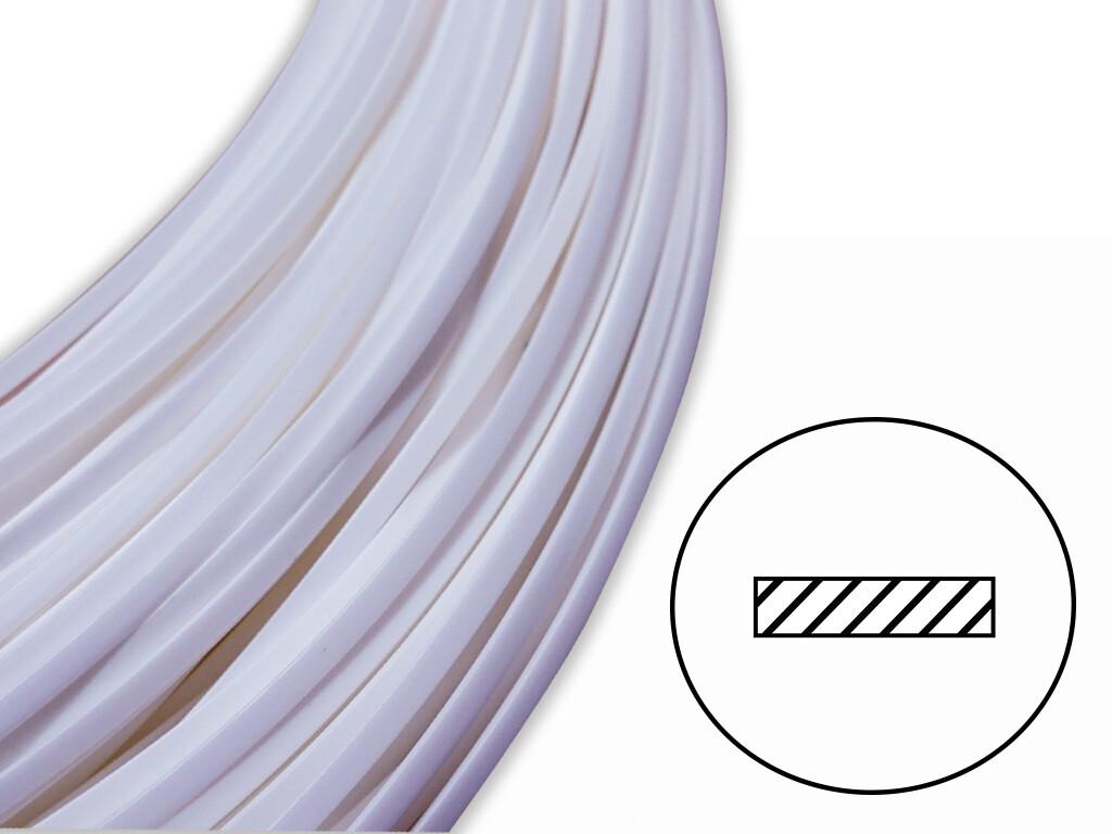 Сварочный пруток АБС плоский белый - 8х2 мм