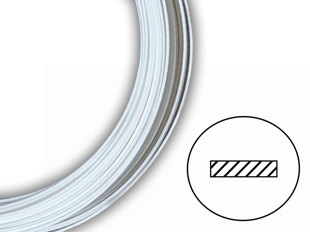 Сварочный пруток ПЭНД белый плоский (8х2 мм)
