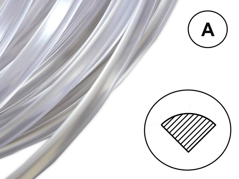 Сварочный пруток ПК прозрачный (профиль А)
