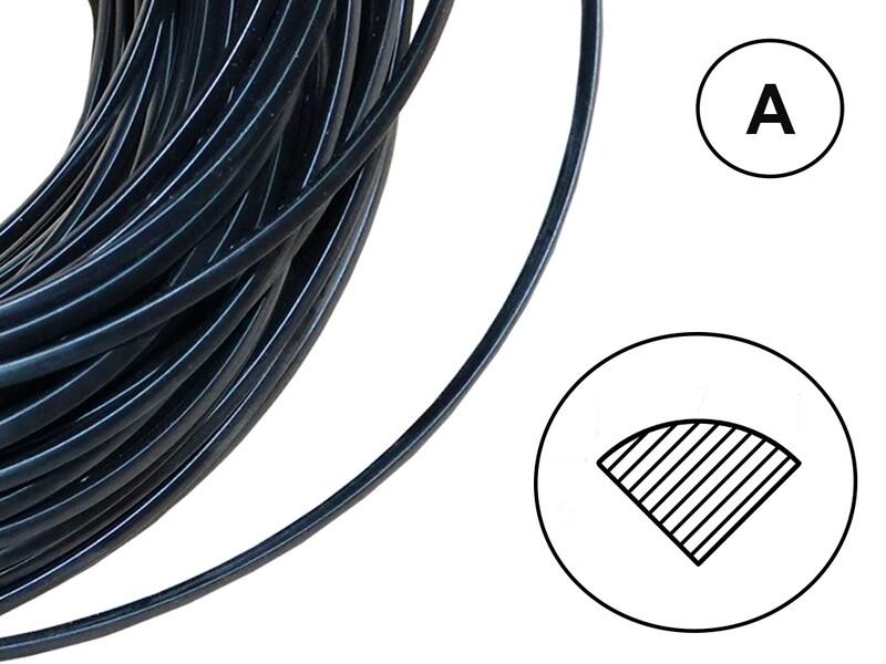 Сварочный пруток ПУ черный (профиль А)