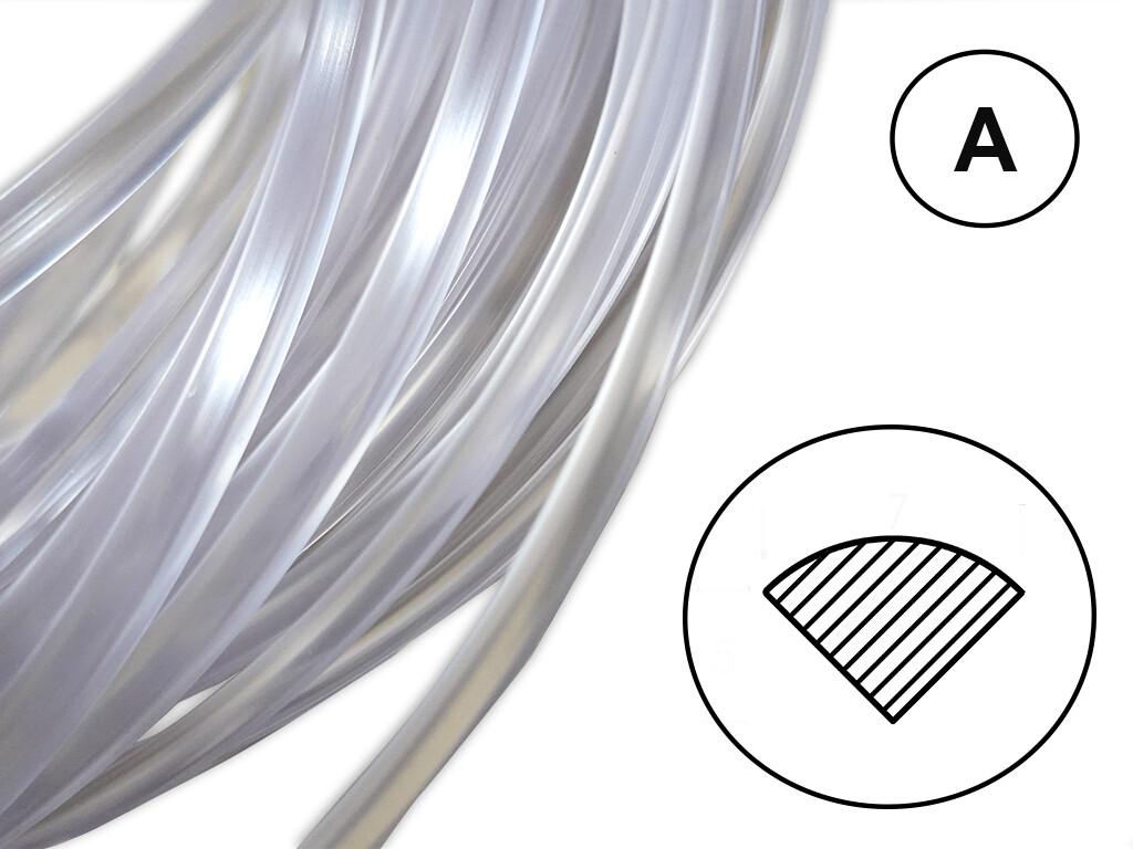 Сварочный пруток ПВХ-П прозрачный (мягкий) профиль А