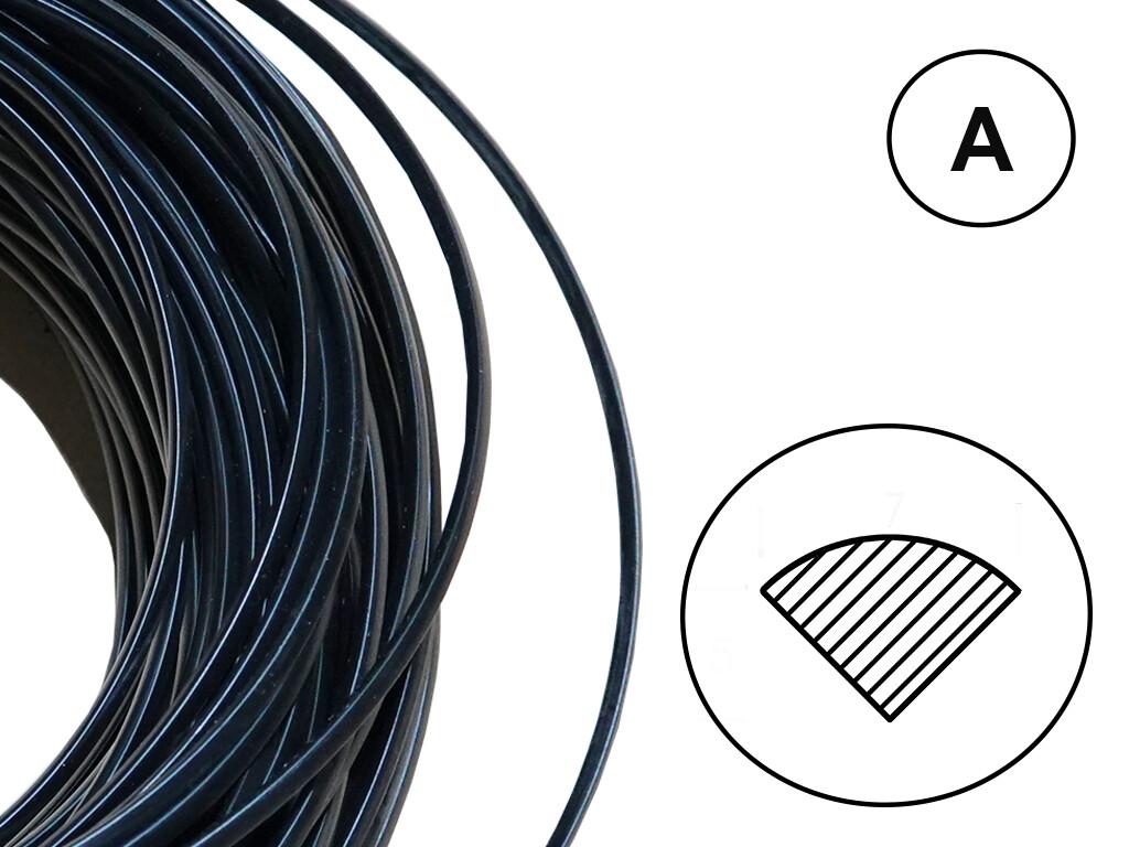 Сварочный пруток ПК/АБС (ALPHA/Хонда) черный (профиль А)